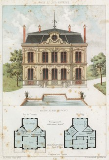 Загородный домик в парижском предместье Ле-Ренси (из популярного у парижских архитекторов 1880-х Nouvelles maisons de campagne...)