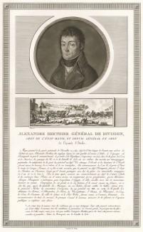Луи-Александр Бертье (1753-1815) - начальник штаба Итальянской армии (1796-97), военный министр (1799-1807), маршал Франции (1804), князь Невшательский (1806) и Ваграмский (1809), начальник штаба Великой армии (1805-15), пэр Франции (1815). Париж, 1804
