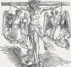 Христос на кресте с тремя ангелами (гравюра Альбрехта Дюрера)