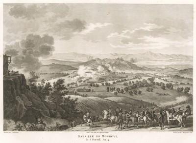 Сражение при Мондови 22 апреля 1796 г. Tableaux historiques des campagnes d'Italie depuis l'аn IV jusqu'á la bataille de Marengo. Париж, 1807