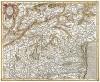 Карта Северной Италии с владениями Венеции, озером Гарда, городами Феррара, Брешиа и пр. Tar visina Marchia et Tirolis comitatus. Составил Герхард Меркатор. Амстердам,1589