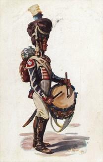 Барабанщик гвардейской пехоты королевства Бавария эпохи наполеоновских войн. Коллекция Роберта фон Арнольди. Германия, 1911-29