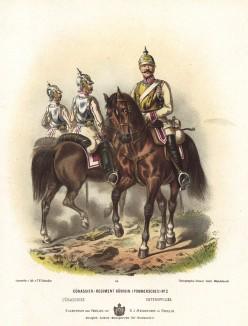 Прусские кирасиры полка королевы в униформе образца 1870-х гг. Preussens Heer. Берлин, 1876
