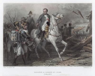 Март 1815 г. Возвращение императора Наполеона I с острова Эльба. Гравюра на стали. Париж, 1837