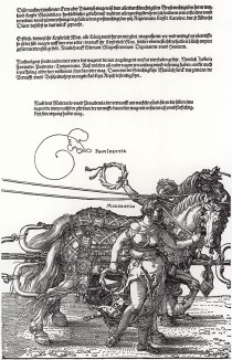 Большая Триумфальная колесница императора Максимилиана I, придуманная, нарисованная и напечатанная Альбрехтом Дюрером (часть 3)