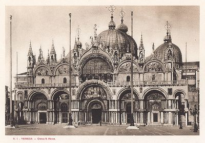 Собор Сан-Марко в Венеции. Ricordo Di Venezia, 1913 год.