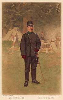 Офицер-квартирмейстер армии Швейцарии (из альбома хромолитографий L' Armée Suisse... Цюрих. 1894 год)