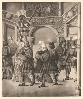 Из Freydal. Des Kaisers Maximilian I. Turniere und Mummereien (Репринт 1882 года. Вена. Лист 239)