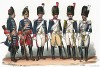 Униформа французских конных гренадеров с 1674 по 1830 гг. Costumes de l'armée française depuis Louis XIV, jusqu'à nos jours, л.31. Париж, 1841