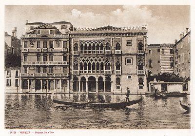 Палаццо Ка-д'Оро в Венеции. Ricordo Di Venezia, 1913 год.