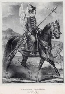 Историческое описание одежды и вооружения российских войск... А. В. Висковатова. Конные жильцы в 1678 году (лист 105)