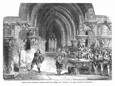 """Опера """"Цампа"""" французского оперного композитора Жозефа Луи Фердинанда Герольда (1791 -- 1833 гг.) на сцене лондонского Театра Её Величества (The Illustrated London News №106 от 11/05/1844 г.)"""
