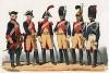 Униформа французских жандармов с 1700 по 1841 гг. Costumes de l'armée française depuis Louis XIV, jusqu'à nos jours, л.17. Париж, 1841