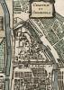 Московский кремль. Das Schloss Cremenela. Chasteau de Cremenela. Лист XXVII из немецкого издания Description de l'univers Алена Малле. Франкфурт-на-Майне, 1684