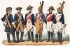 Униформа кавалерийских частей гвардии города Парижа с 1700 по 1843 гг. Costumes de l'armée française depuis Louis XIV, jusqu'à nos jours, л.15. Париж, 1841