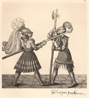 Из Freydal. Des Kaisers Maximilian I. Turniere und Mummereien (Репринт 1882 года. Вена. Лист 242)