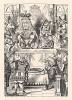 Червонные Король и Королева сидели на троне (иллюстрация Джона Тенниела к книге Льюиса Кэрролла «Алиса в Стране Чудес», выпущенной в Лондоне в 1870 году)