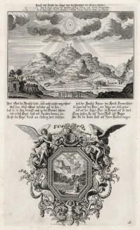 1. Иисус, восходящий на небо 2. Колесница Ильи Пророка (из Biblisches Engel- und Kunstwerk -- шедевра германского барокко. Гравировал неподражаемый Иоганн Ульрих Краусс в Аугсбурге в 1694 году)