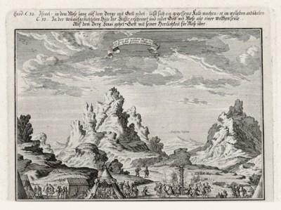 Аарон и Моисей (из Biblisches Engel- und Kunstwerk -- шедевра германского барокко. Гравировал неподражаемый Иоганн Ульрих Краусс в Аугсбурге в 1700 году)