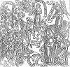 """Иллюстрация молитвы """"Отче наш"""" в так называемой """"Библии для бедных"""", состоявшей из серии картинок с объяснительным текстом, отпечатанной с гравюры на дереве в испанском городе Сантандер (The Illustrated London News №103 от 20/04/1844 г.)"""