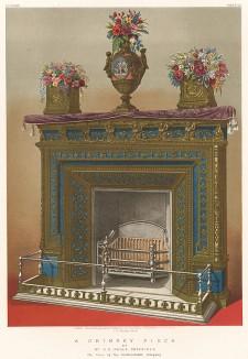 Камин в итальянском стиле, дизайн Альфреда Стивенса, мануфактура Hoole. Каталог Всемирной выставки в Лондоне 1862 года, т.2, л.131