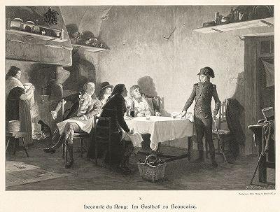 """""""Ужин в Бокере"""". Moderne Kunst..., т. 9, Берлин, 1895 год."""