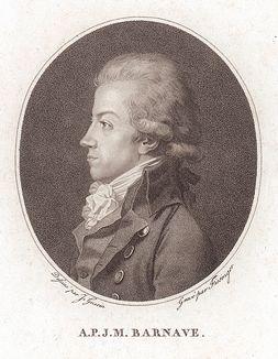 Антуан-Пьер-Жозеф-Мари Барнав (1761--1793) - французский политический деятель эпохи Великой Французской революции, депутат Национального собрания. Гильотинирован по приговору революционного трибунала.