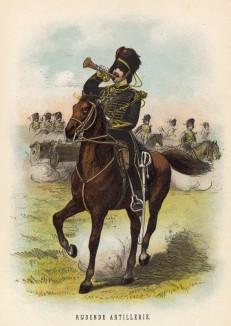 Трубач голландской конной артиллерии (иллюстрация к работе Onze krijgsmacht met bijshriften... (голл.), изданной в Гааге в 1886 году)