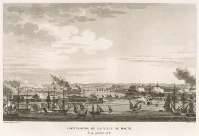 Капитуляция Мальты 11 июня 1798 г. По дороге в Египет эскадра генерала Бонапарта подходит к острову Мальта и за несколько дней осады добивается его капитуляции. Париж, 1804