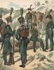 1814 г. Униформа добровольческого егерского корпуса, сформированного в Вюрцбурге. Uniformenkunde Рихарда Кнотеля, часть 2, л.22. Ратенау (Германия), 1891