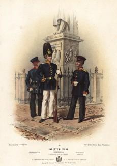 Воспитанники прусских военно-учебных заведений в униформе образца 1870-х гг. Preussens Heer. Берлин, 1876