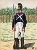 1808-12 гг. Солдат лейб-гренадерского полка Великого герцогства Баден. Коллекция Роберта фон Арнольди. Германия, 1911-29