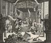 Английский театр как он есть, 1724. Сатира на грубый фарс - пантомиму «Доктор Фауст и арлекин Шепард», показанную 28.11.1724 в придворном театре «Друри Лейн». Так Хогарт продемонстрировал деградацию английского театра. Лондон, 1838