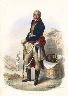 Генерал Жан Виктор Моро (1763-1813) - главный противник Суворова во время Итальянского похода. Лист из серии Le Plutarque francais..., Париж, 1844-47 гг.