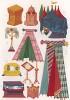 Предметы обстановки королевской опочивальни в средневековой Франции (из Les arts somptuaires... Париж. 1858 год)