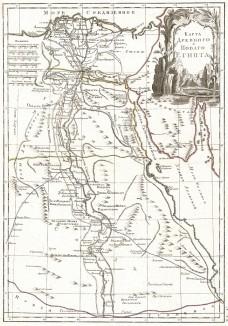 Карта Древнего и нового Египта. Карта, составленная в России во 2-й четверти XIX века.