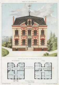 Домик в предместье Парижа Нёйи-сюр-Сен (из популярного у парижских архитекторов 1880-х Nouvelles maisons de campagne...)