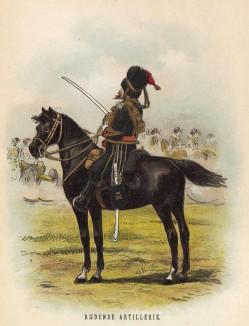 Офицер конной артиллерии голландской армии (иллюстрация к работе Onze krijgsmacht met bijshriften... (голл.), изданной в Гааге в 1886 году)