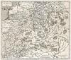 Литва. Lithuania. Карта из знаментого Atlas sive Cosmographicae meditationes de fabrica mundi et fabricati figura,  сост. Герхард Меркатор. Амстердам, 1595