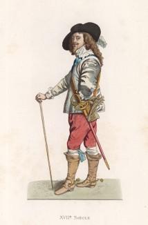"""Король Англии Карл I Стюарт (1600--1649) (лист 112 работы Жоржа Дюплесси """"Исторический костюм XVI -- XVIII веков"""", роскошно изданной в Париже в 1867 году)"""