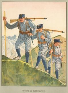 Униформа швейцарских горных стрелков во время Первой мировой войны. Notre armée. Женева, 1915