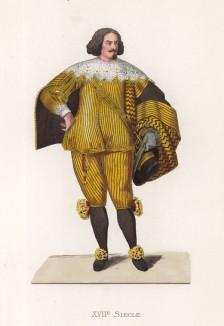 """Камергер двора испанского короля Филиппа IV (XVII век) (лист 94 работы Жоржа Дюплесси """"Исторический костюм XVI -- XVIII веков"""", роскошно изданной в Париже в 1867 году)"""