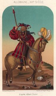 Всадник (по мотивам живописи Альбрехта Дюрера) (из Les arts somptuaires... Париж. 1858 год)