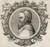 Аристотель (384--322 гг. до н.э.) (лист 13 иллюстраций к известной работе Medicorum philosophorumque icones ex bibliotheca Johannis Sambuci, изданной в Антверпене в 1603 году)