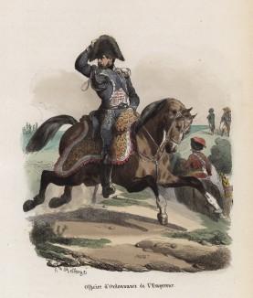 Офицер по особым поручениям императора Наполеона (из популярной работы Histoire de l'empereur Napoléon (фр.), изданной в Париже в 1840 году с иллюстрациями Ораса Верне и Ипполита Белланжа)