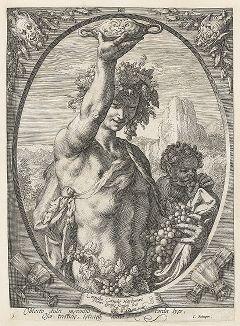 Молодой Вакх работы Гендрика Голциуса, ок. 1595 года.