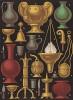 Предметы обстановки для кухни и столовой в средневековой Франции (из Les arts somptuaires... Париж. 1858 год)