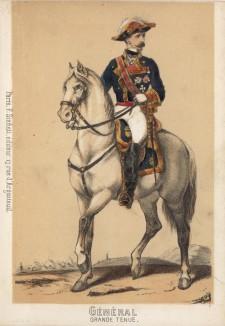 Генерал испанской армии в парадной форме образца 1860 года (из альбома литографий L'Espagne militaire, изданного в Париже в 1860 году)