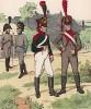 Униформа пехотных частей, сформированных в Вюрцбурге в 1812 г. Uniformenkunde Рихарда Кнотеля, часть 2, л.35. Ратенау (Германия), 1891