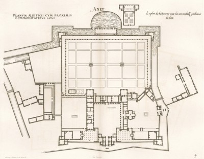 Общий план замка Анэ. Androuet du Cerceau. Les plus excellents bâtiments de France. Париж, 1579. Репринт 1870 г.